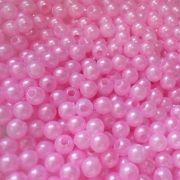 Pérolas ABS Rosa escuro - 4mm - 50gr