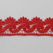 Renda de Gripir Vermelha 4cm - 3m