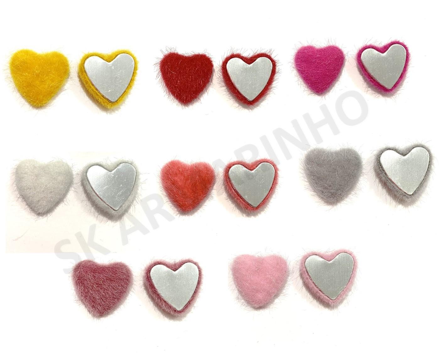 Aplique Coração Feupudo 2,5cmX2,5cm - Unidade