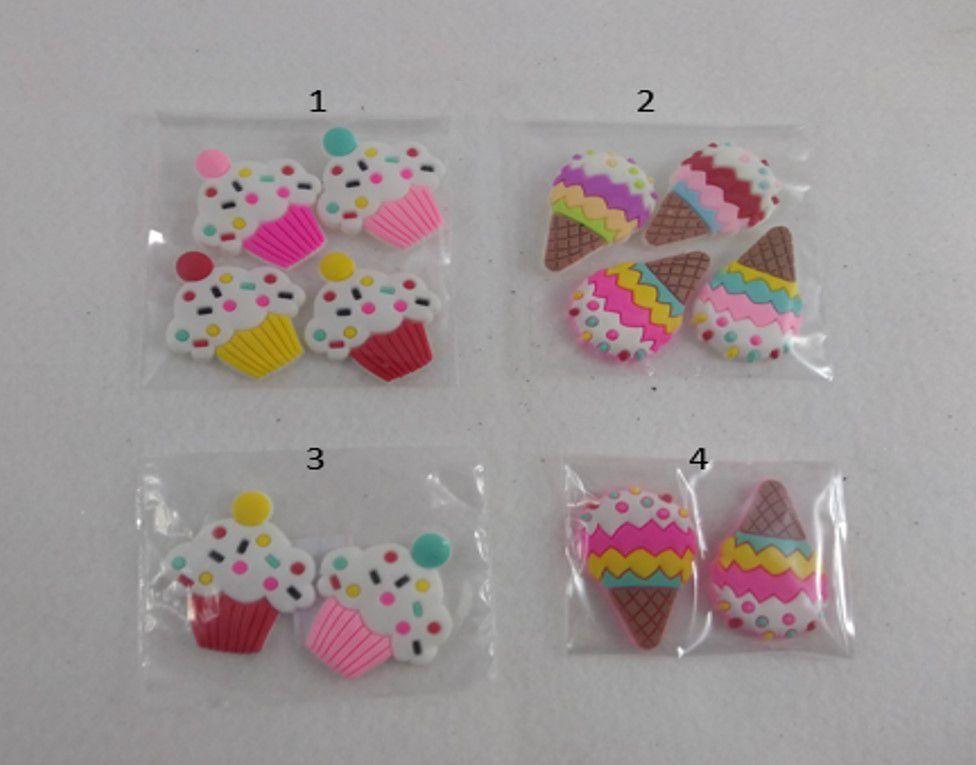 Aplique  Cupcake / Sorvete  kit com 2 e 4 unidades