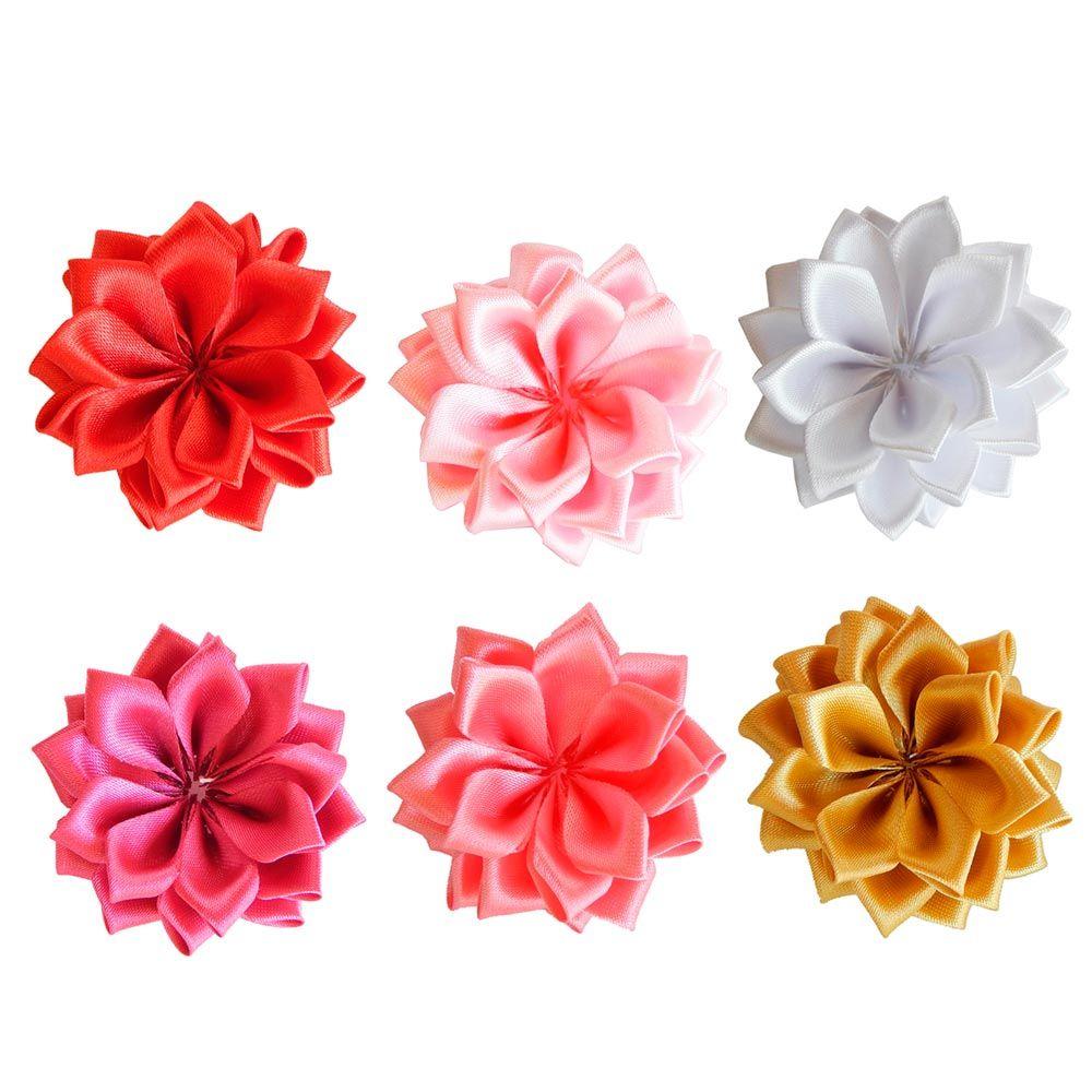 Aplique Flor de Cetim - 6cm - 2UN