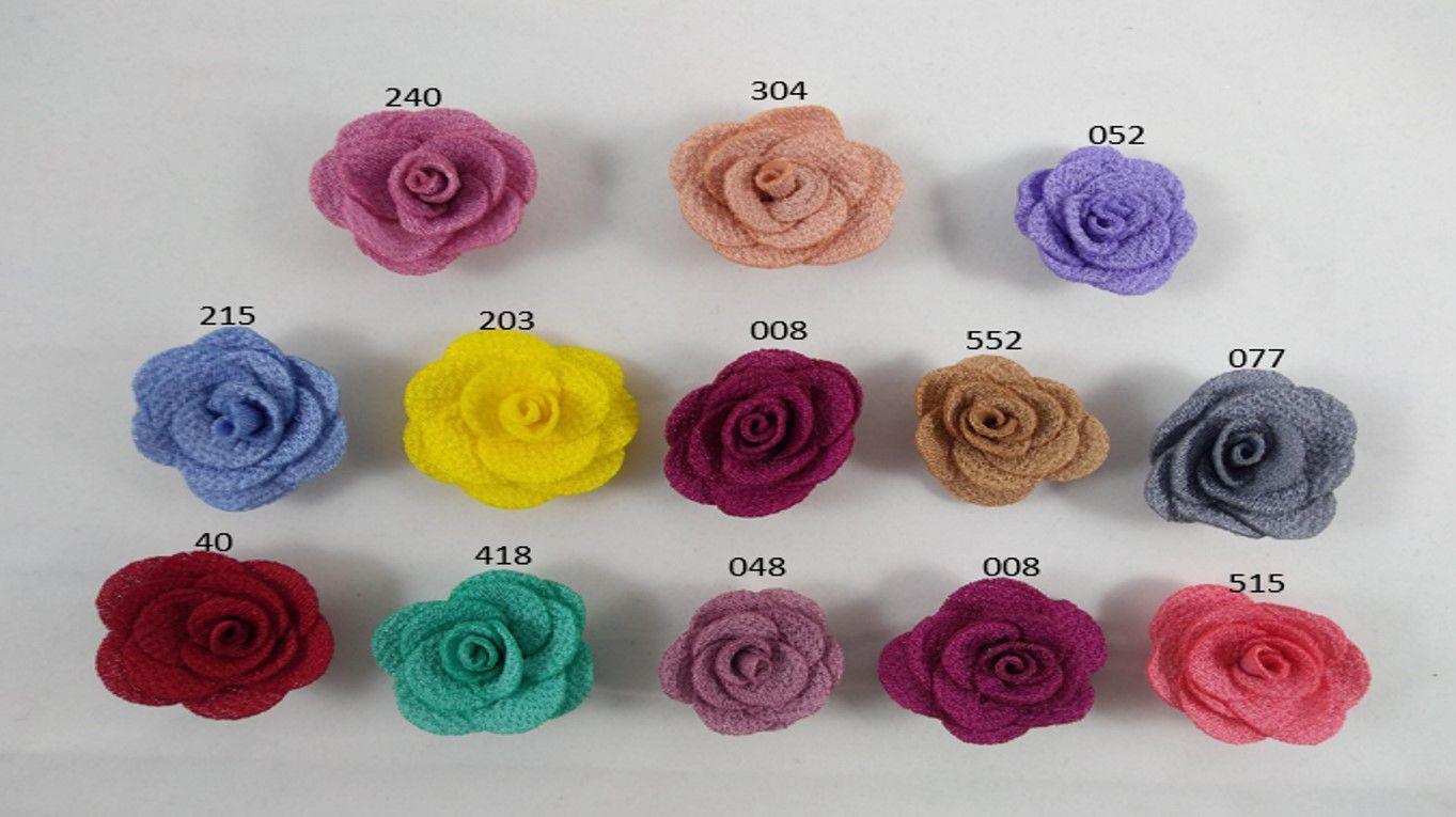 Aplique Flor de Tecido Poliester 3cm - 10 unidade