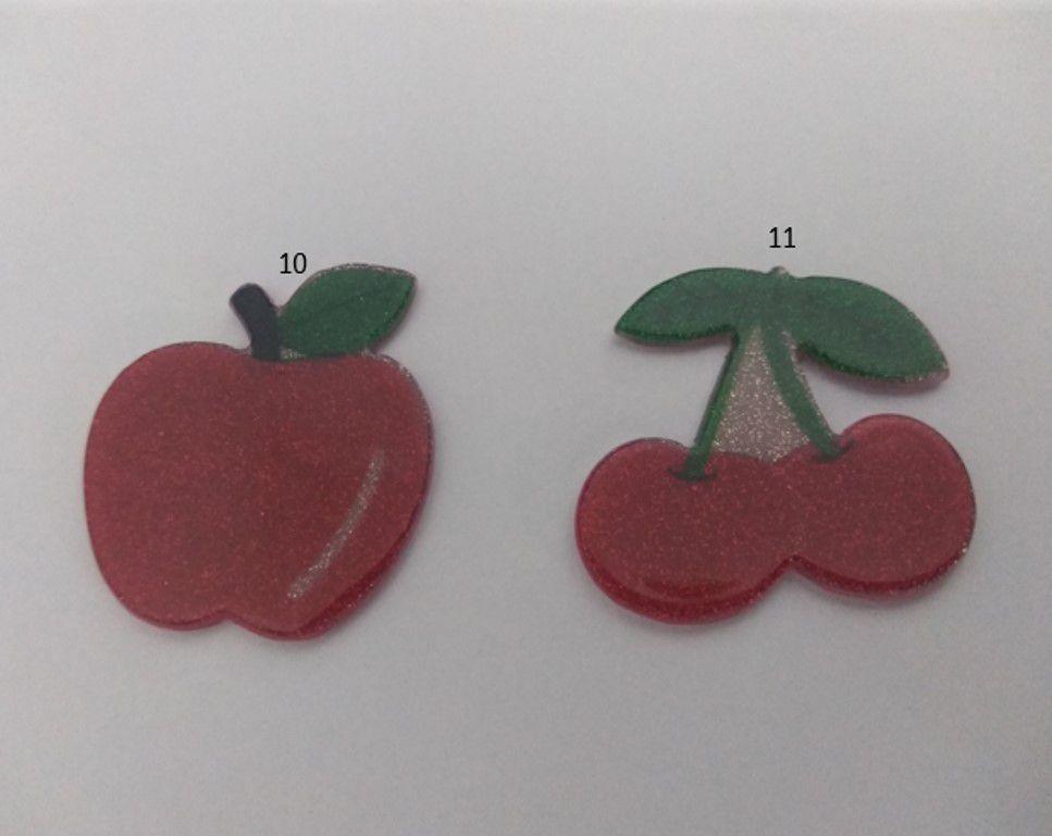 Aplique Frutas Acrilica unidade