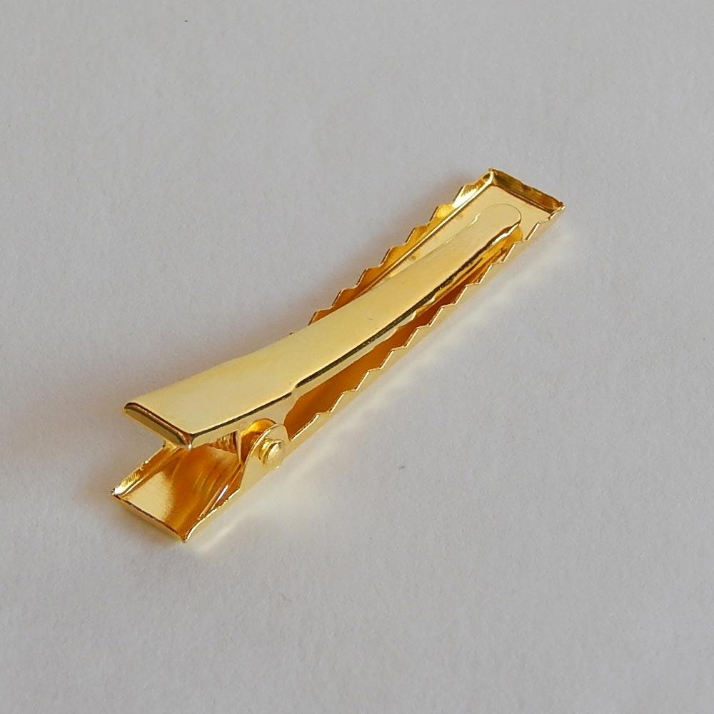 Bico de Pato Metal - Dourado - 4,5cm - Cartela com 10 UN e 50 UN
