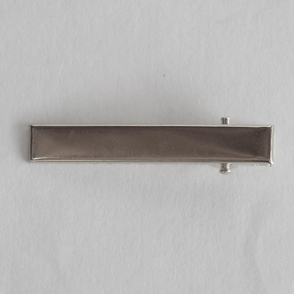 Bico de Pato Metal - Prata - 4,5cm - Cartela  50 Unidade