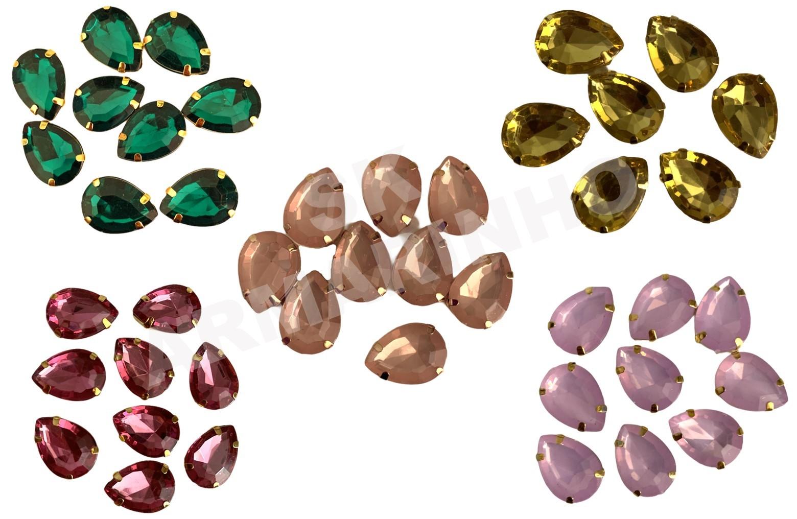 Chaton Emgrampado Dourado 1,9X1,3cm - 10 unidades