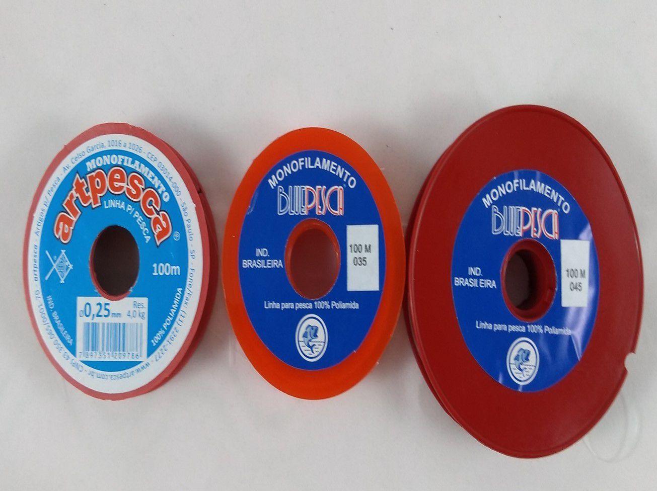 Fio de Nylon - 0,25mm  - 0,35mm - 0,45mm / 100m