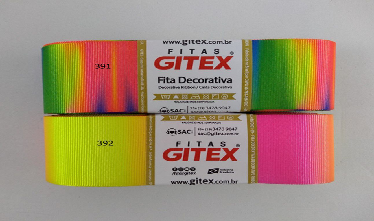 Fita de Gorgurão Gitex Neon 9/38mm - 10 metros
