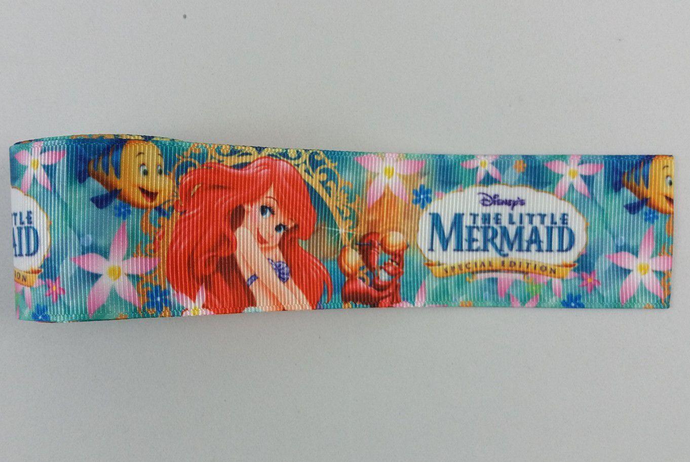 Fita de Gorgurão Importada Ariel Mermaid - 9/38 mm - 3 metros