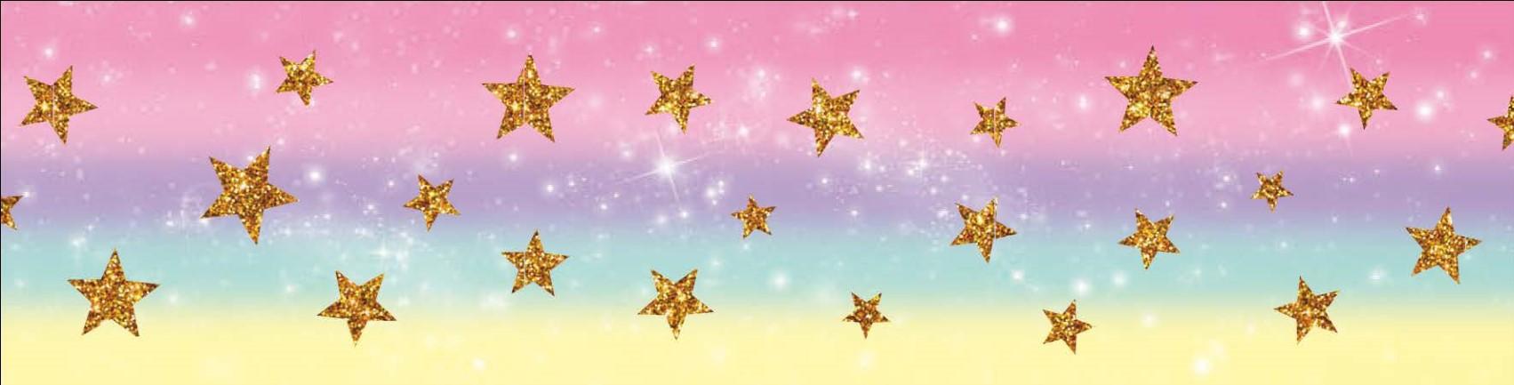 Fita de Gorgurão Progresso Estrela Glitter - 9/38mm - 10 Metros