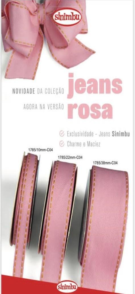 Fita Jeans Pespontada Sinimbu 38/22/10mm - 10metros
