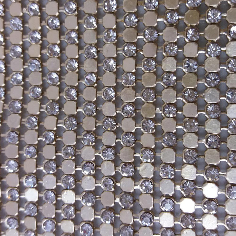 Manta de Strass Chapinha Termocolante   10x40 cm