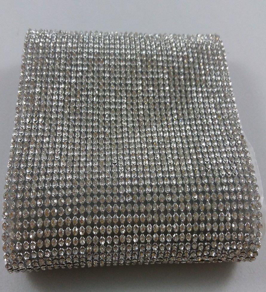 Manta de Strass Termocolante Prata - 10 x 45 cm