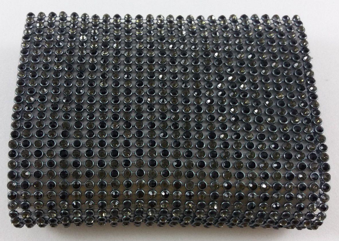 Manta de Strass Termocolante Preta - 10 x 45 cm