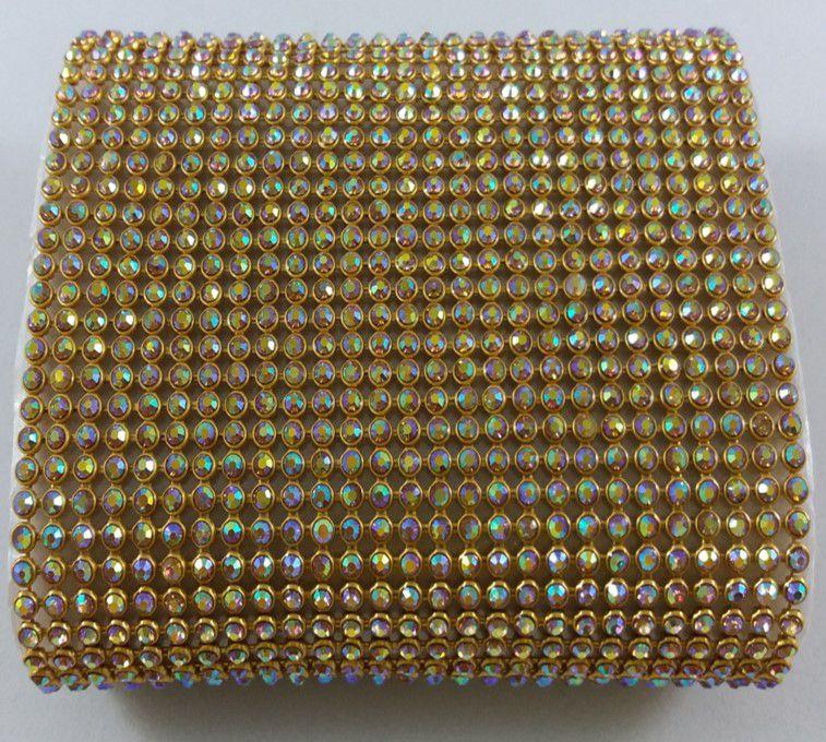 Manta Strass termocolante Dourada - Boreal - 10 x 45cm
