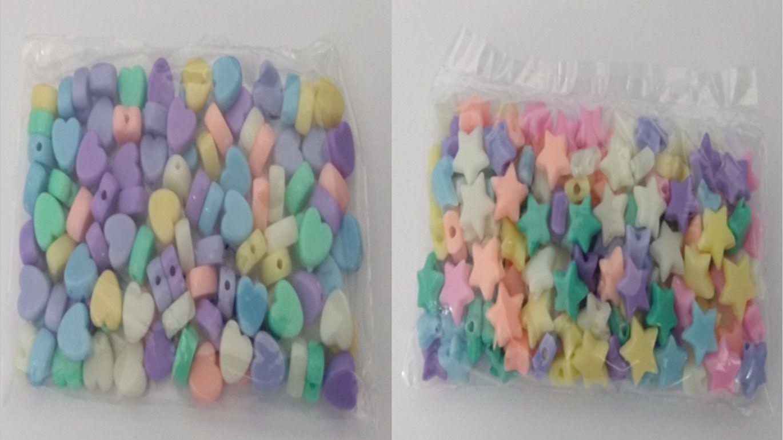 Miçanga colorida Infantil Plastico 25gr