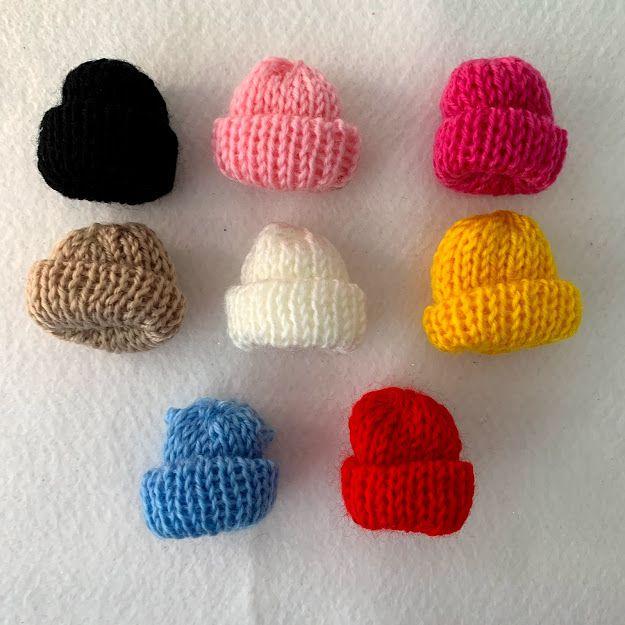 Mini Gorro de Lã com 5 unidades