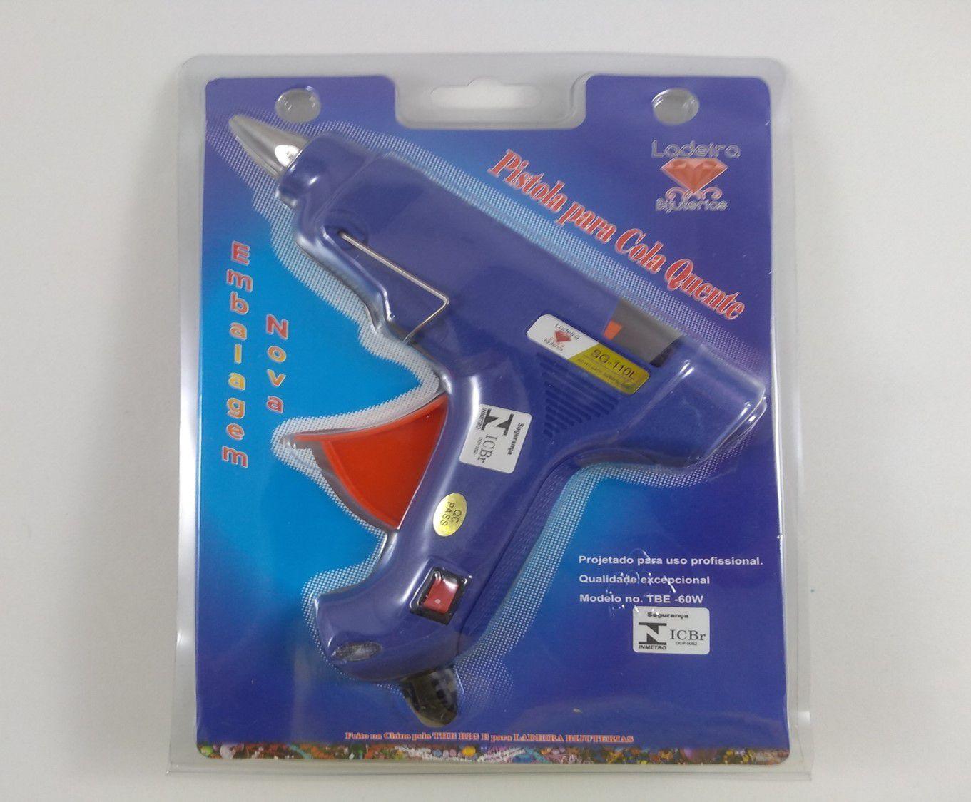 Pistola de cola Quente 110/220 Ladeira Pequena 20W e Grande 60W