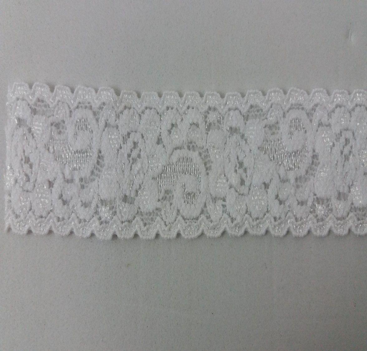 Renda Elastano Branca 2,7cm - 5 metros