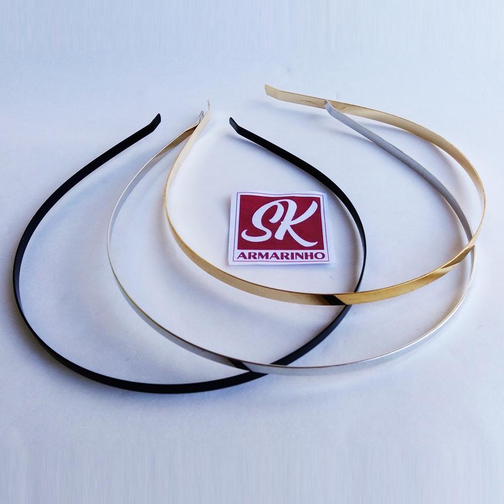 Tiara de Metal 4mm - Pacote com 10 UN
