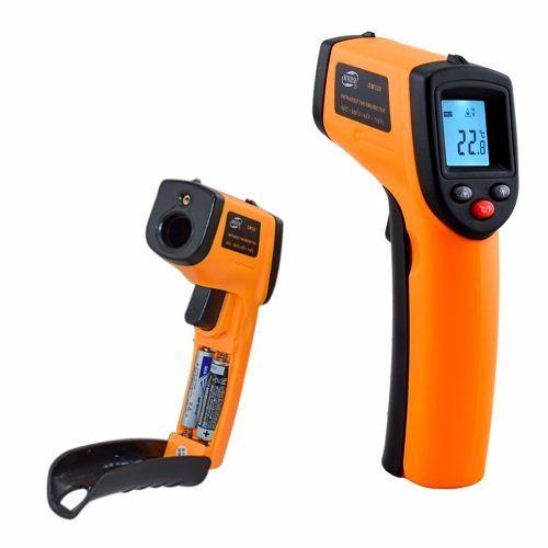Termometro Laser Digital Infravermelho Temperatura 50º 400º 3.1 termômetro a laser digital infravermelho com mira. termometro laser digital infravermelho