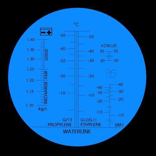 Refratômetro Portátil Fluído Bateria Etileno Propileno