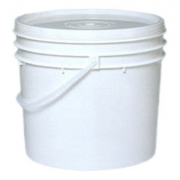 Balde Plástico De 12,5l Com Tampa Atóxico Branco