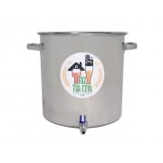 Caldeirão/Panela Cervejeira INOX 201 com Registro 48L - nº 40