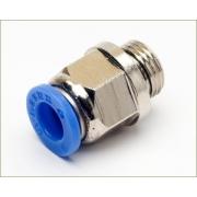Conexão Engate Rapido 1/4 X 3/8 BSP Macho Azul