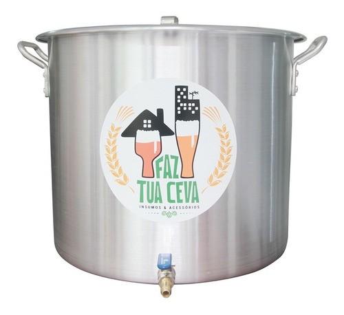 Caldeirão Panela Cervejeira Alumínio Com Registro 68,3l-45cm Anúncio com variação