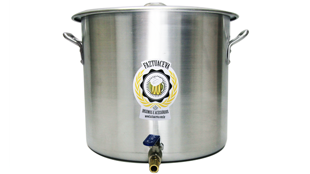 Caldeirão/Panela Cervejeira Alumínio com Registro 94,2L - 50cm