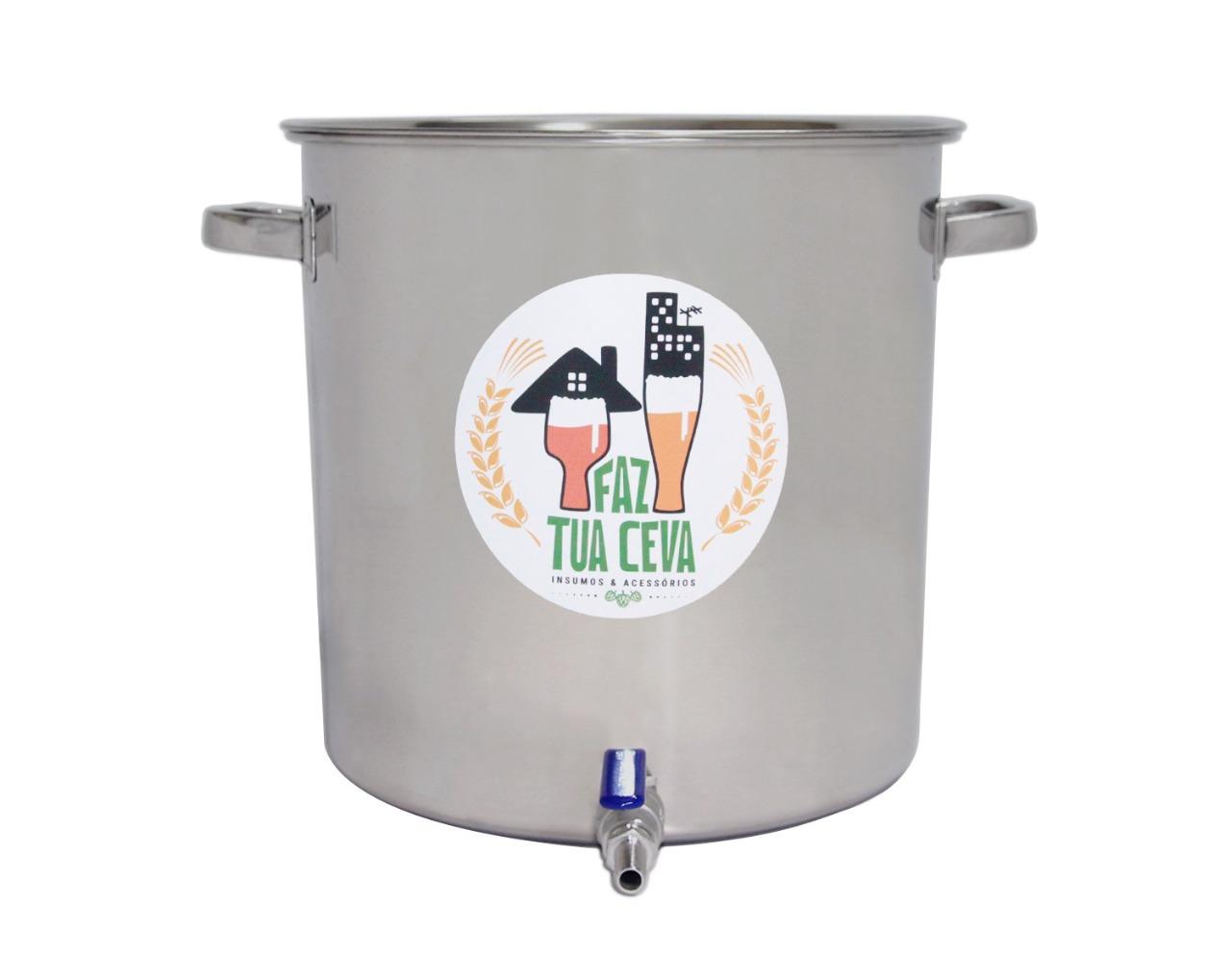 Caldeirão/Panela Cervejeira INOX 201 com Registro 20L - nº 30