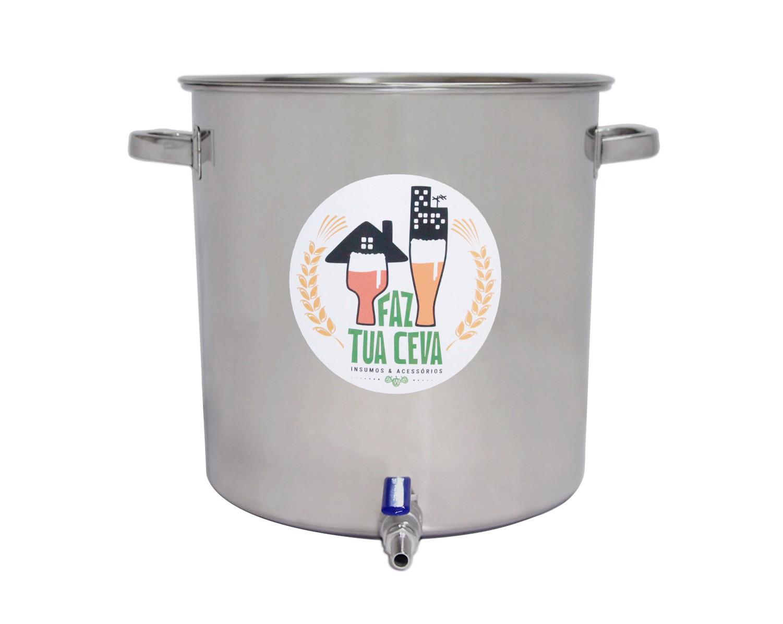 Caldeirão/Panela Cervejeira INOX 201 com Registro 95L - nº 50