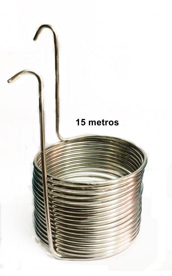 Chiller Resfriador de Mosto 15m - Alumínio