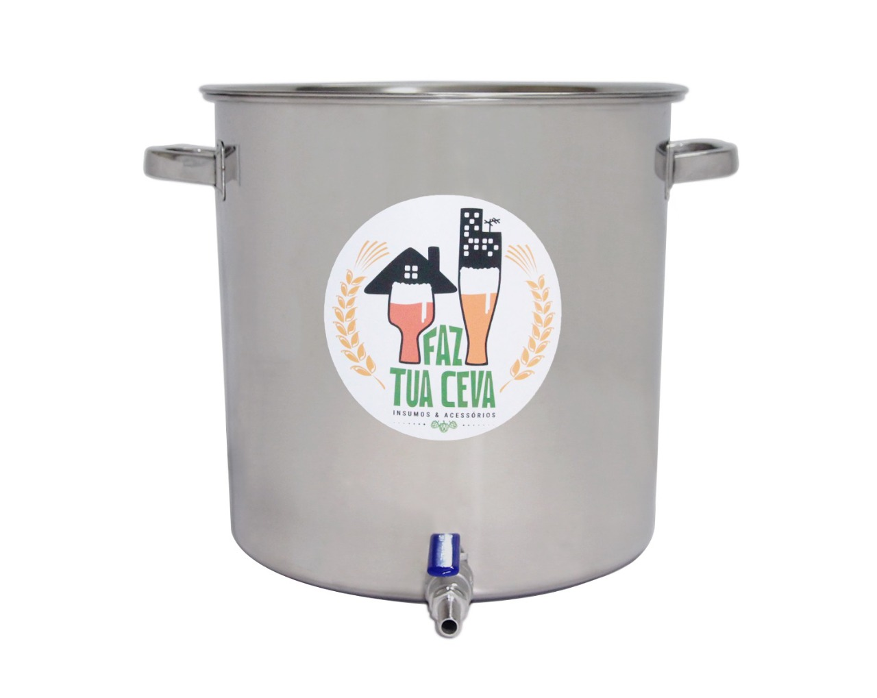 Caldeirão/Panela Cervejeira INOX 201 com Registro 32L - nº 35
