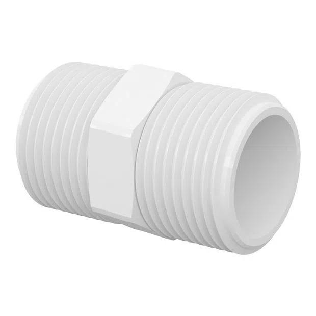 Conexão Niple 1/2 X 1/2 PVC