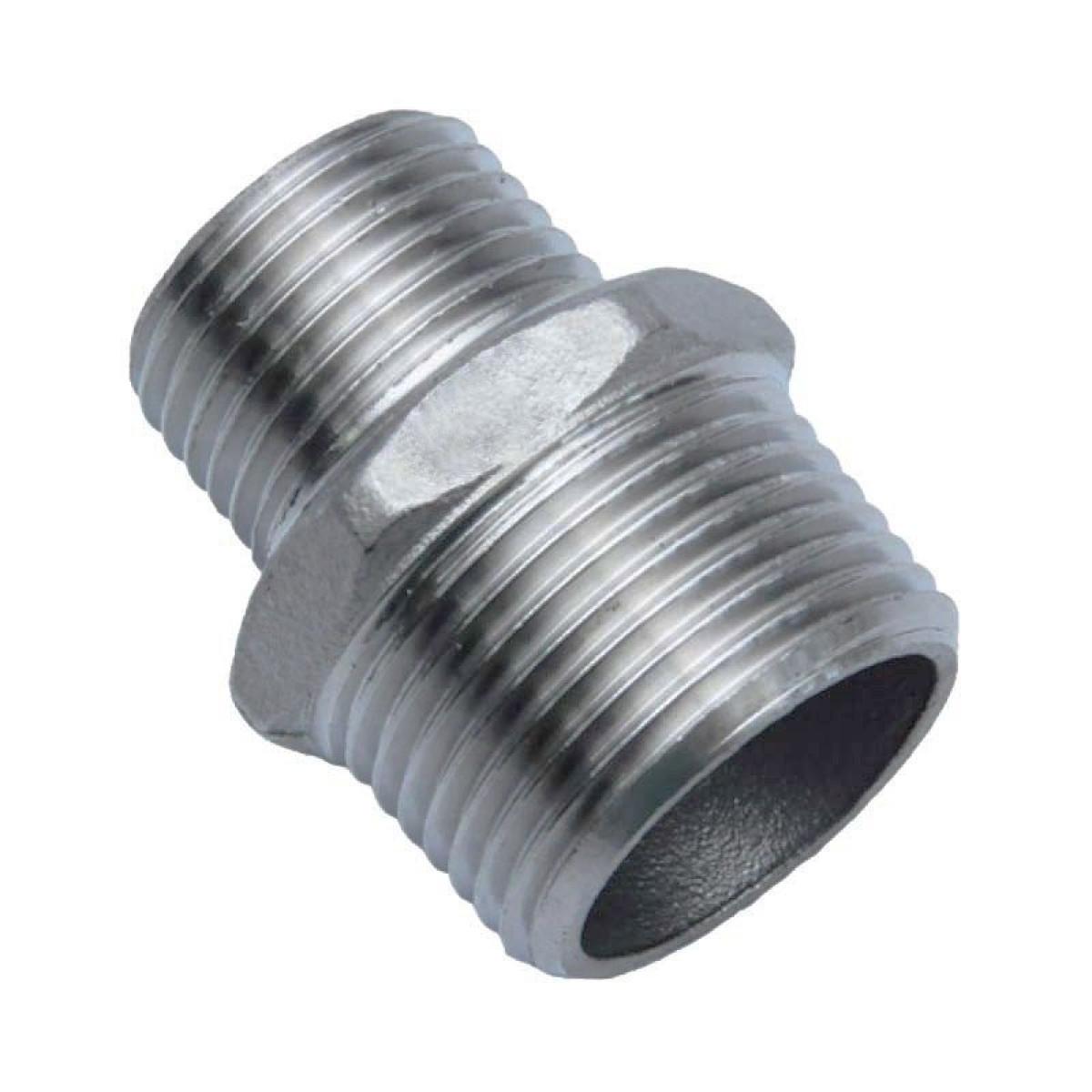 Conexão Niple Redução 3/8 X 1/4 Inox 304
