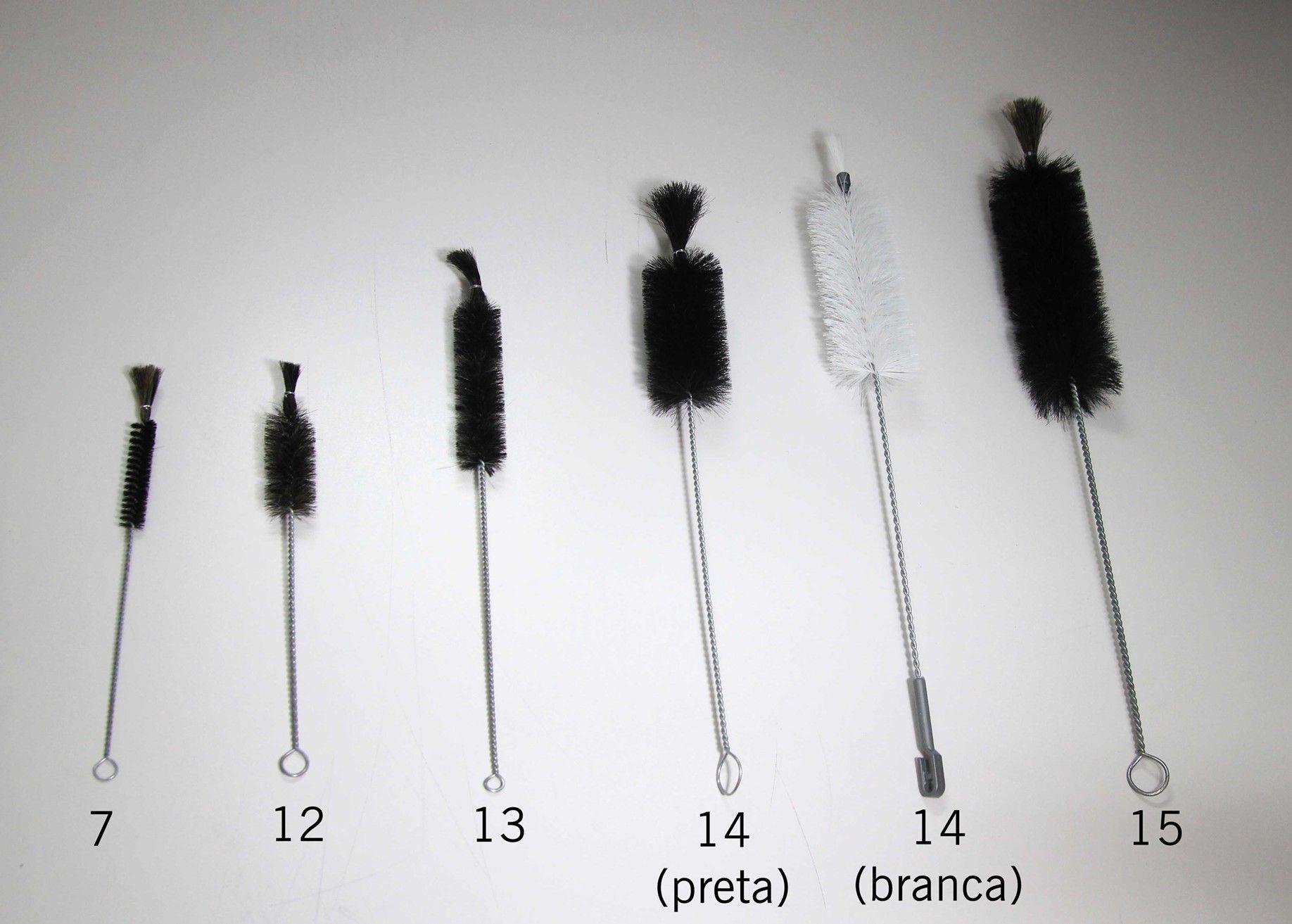 Escova de Crina Preta para Lavar Garrafas nº 07
