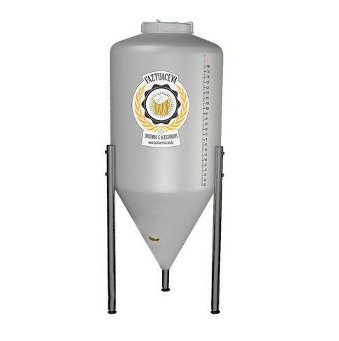 Fermentador Cônico Rotomoldado Plus com Pé Inox Cerveja Artesanal