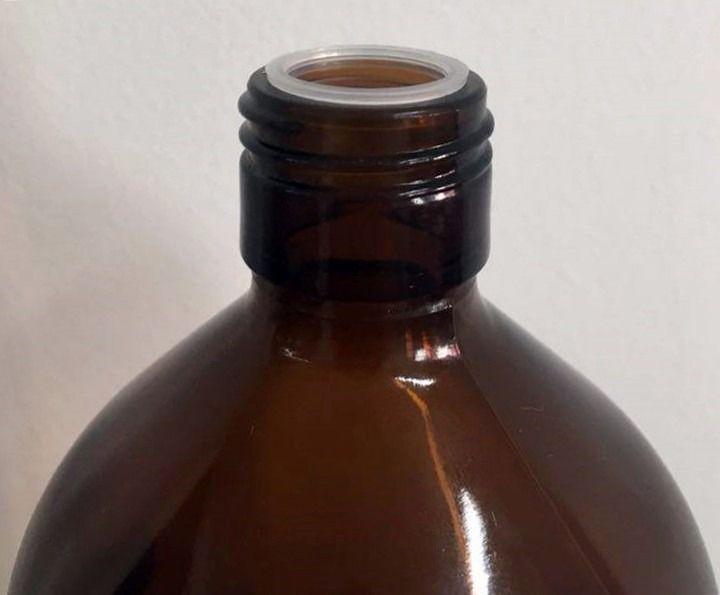 Growler Cerveja Artesanal Vidro Âmbar 1,1L