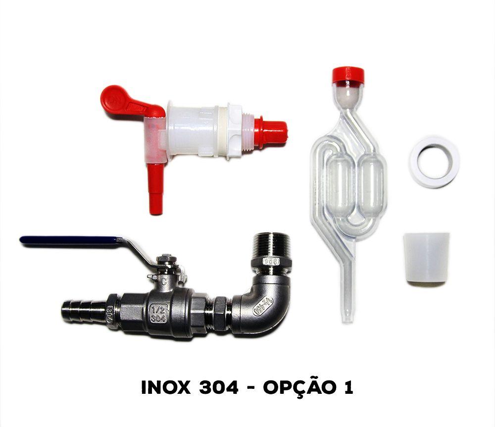 Kit Acessórios para Fermentador Cônico - INOX
