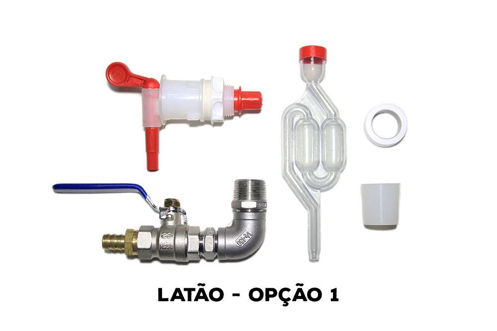Kit Acessórios para Fermentador Cônico - Latão