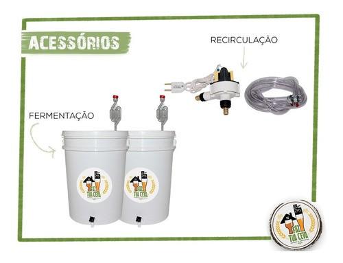 Kit Cervejeiro 40 Litros + Moedor de Discos