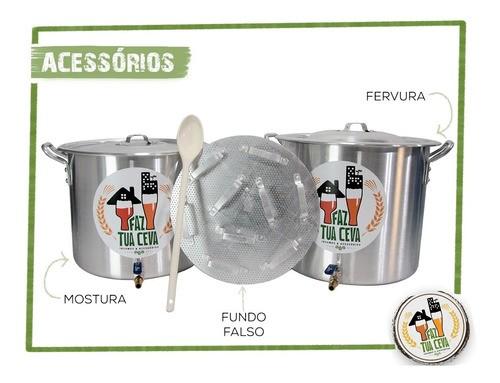 Kit Cervejeiro 40L Com Fogareiro 12c E Moedor De Rolos