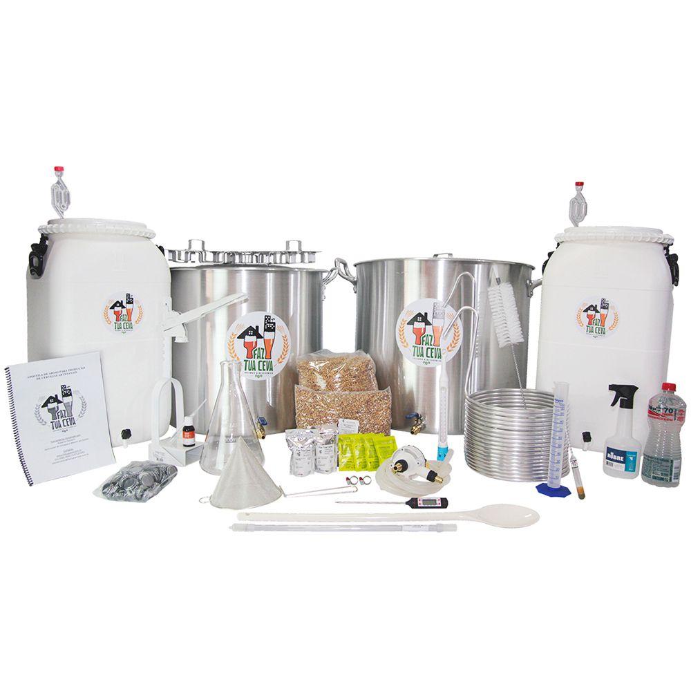 Kit Cervejeiro Alumínio Até 100L - Fabricação de Cerveja Artesanal