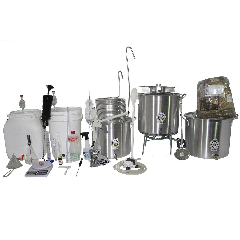 Kit Cervejeiro Alumínio Até 30L (3 Panelas) - Fabricação Cerveja Artesanal