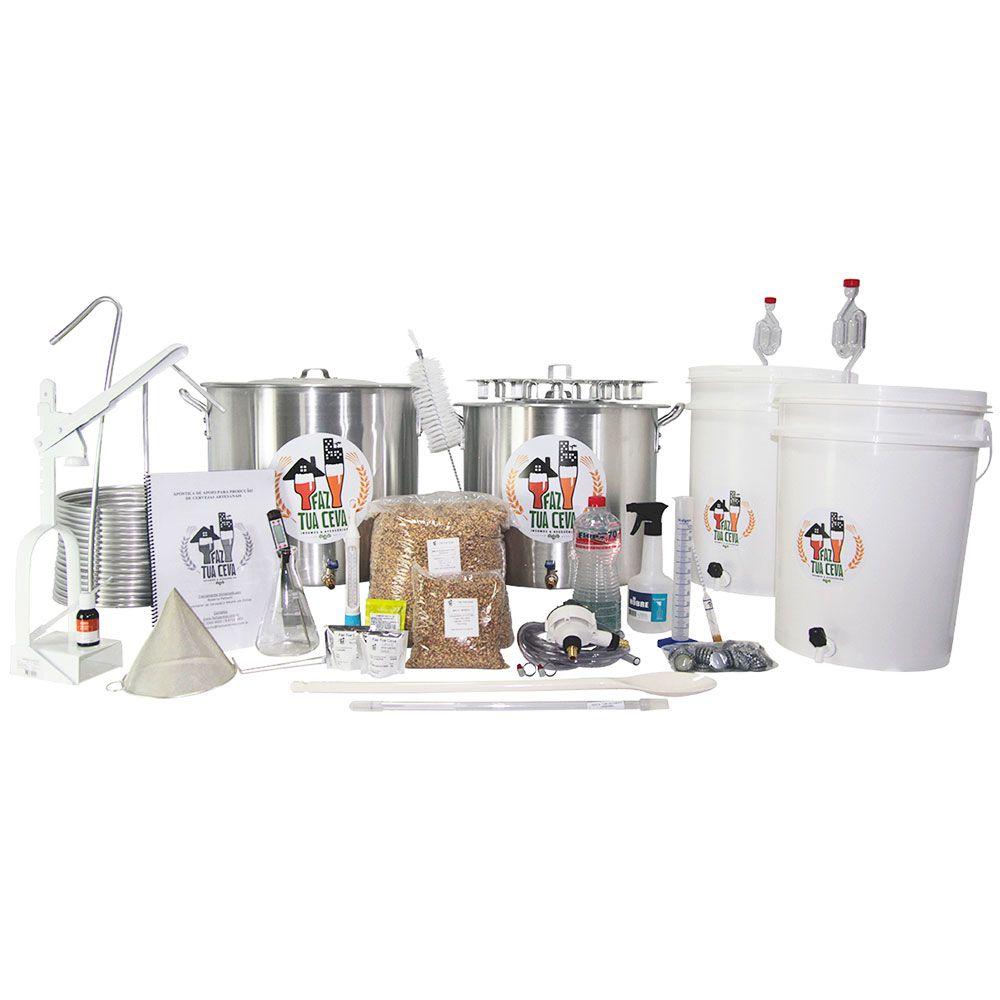 Kit Cervejeiro Alumínio Até 40L - Fabricação de Cerveja Artesanal