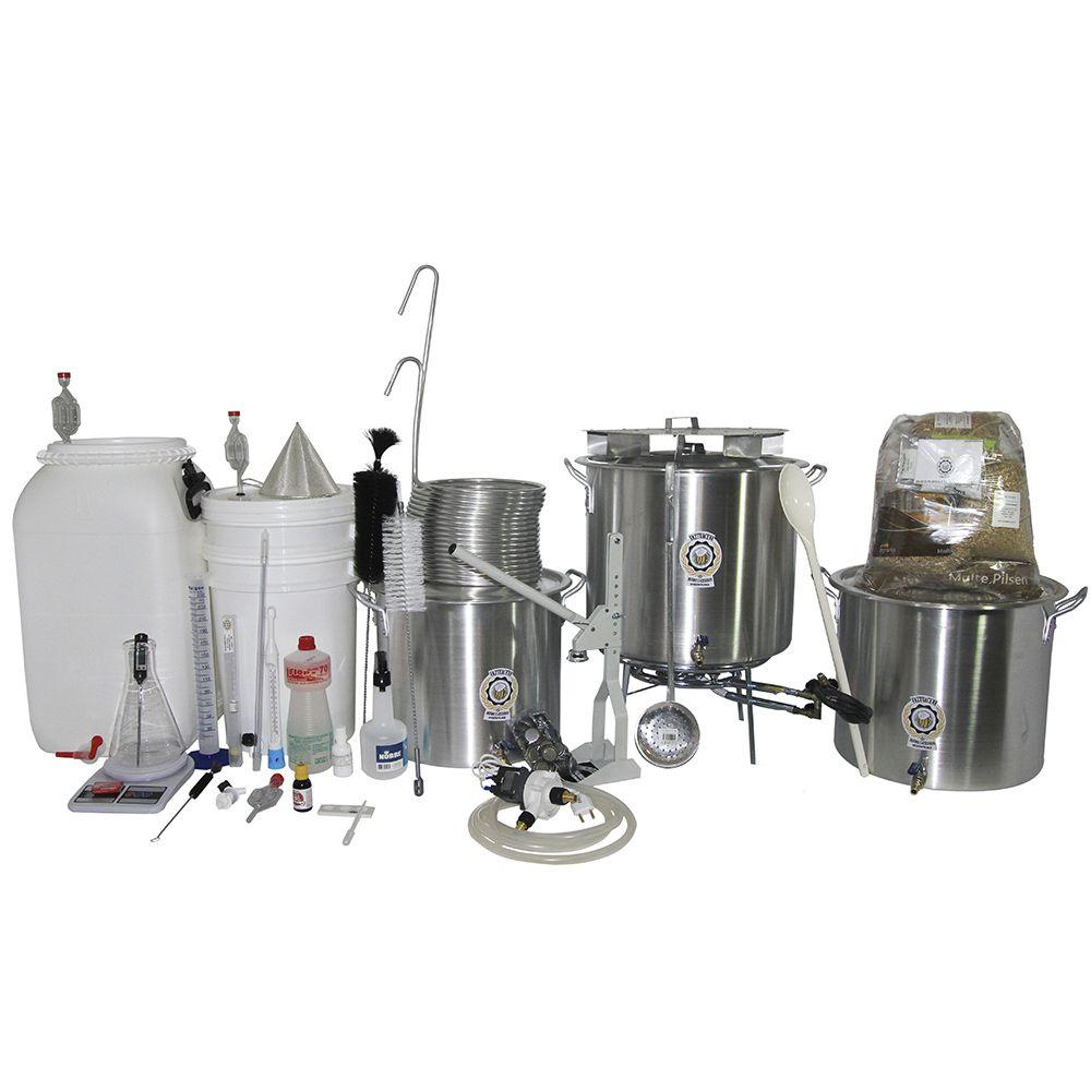 Kit Cervejeiro Alumínio Até 50L (3 Panelas) - Fabricação de Cerveja Artesanal