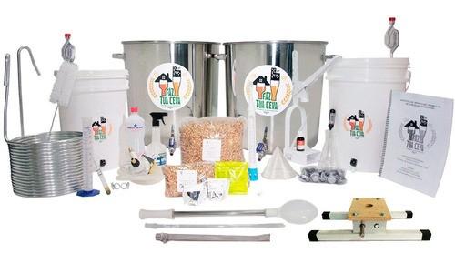 Kit Cervejeiro Inox - 2 Panelas - com Moedor de Rolos