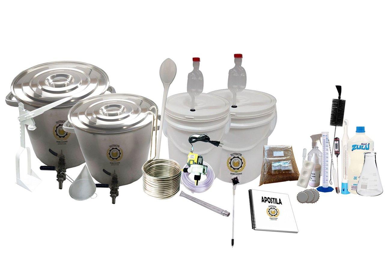 Kit Cervejeiro Inox Até 40L - Fabricação de Cerveja Artesanal